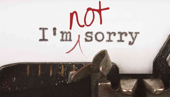 typewriter text I'm not sorry
